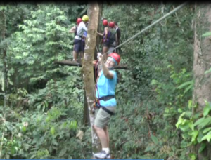 Canopy cable walk