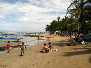 Sunday on the town beach