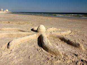 sand sculpture - octopus