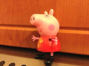 Peppa Pig - the always present video favorite of Oto's. Goodbye Peppa!